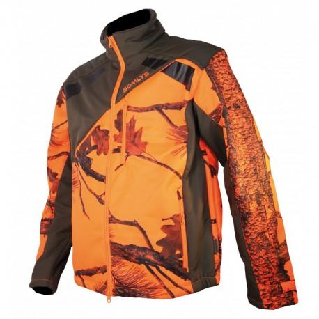 Veste Somlys Softshell Sherpa Camo Orange